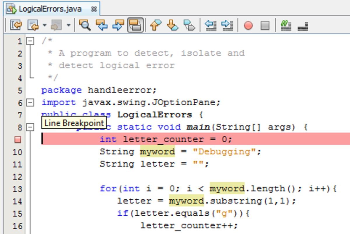 Using Breakpoints in Java