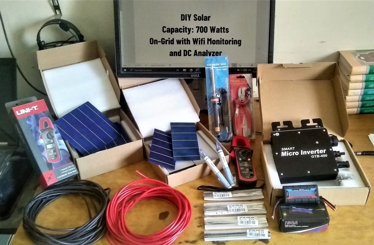 Procurement of materials is an important part of a DIY solar panel project