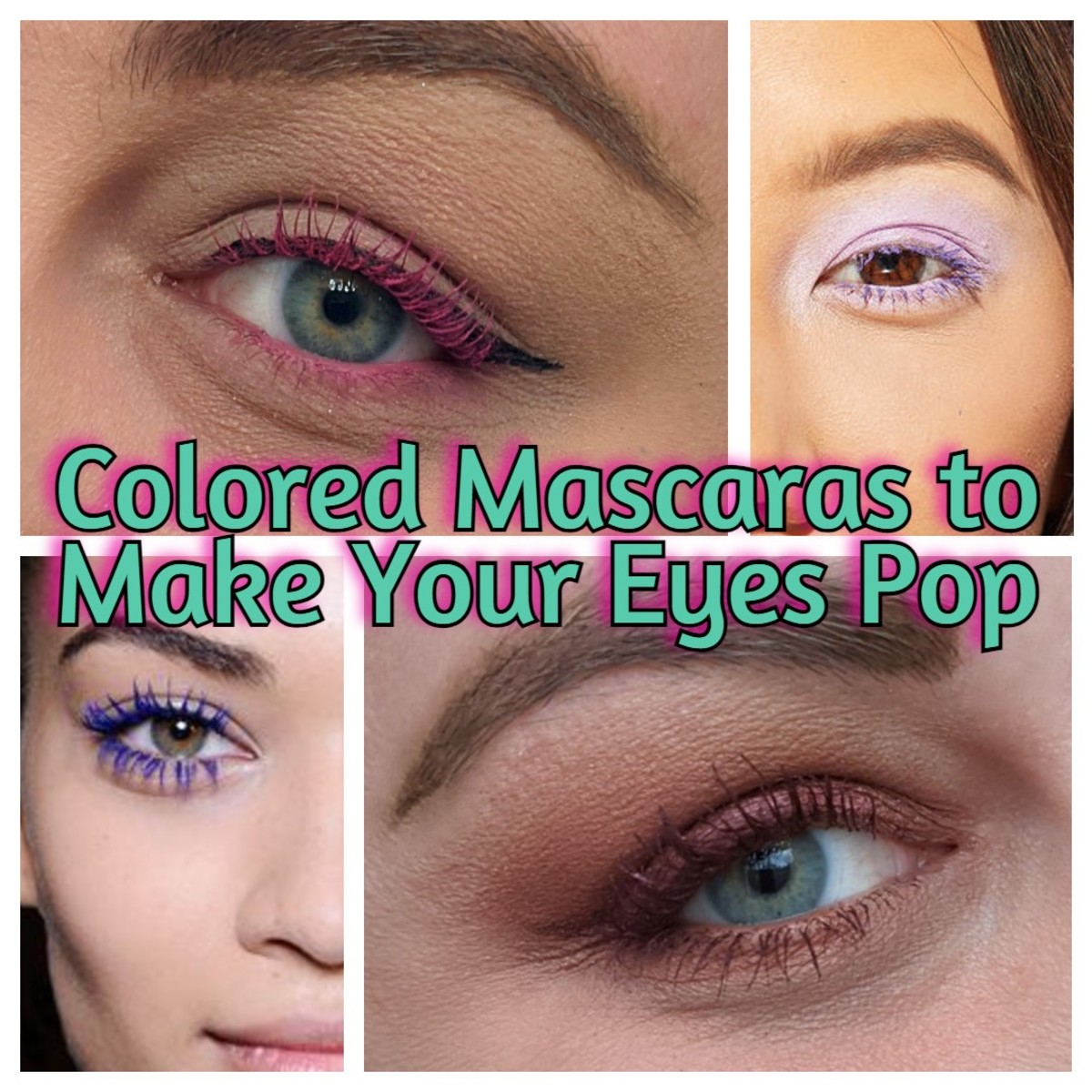 Make your eye color pop with colored mascara.