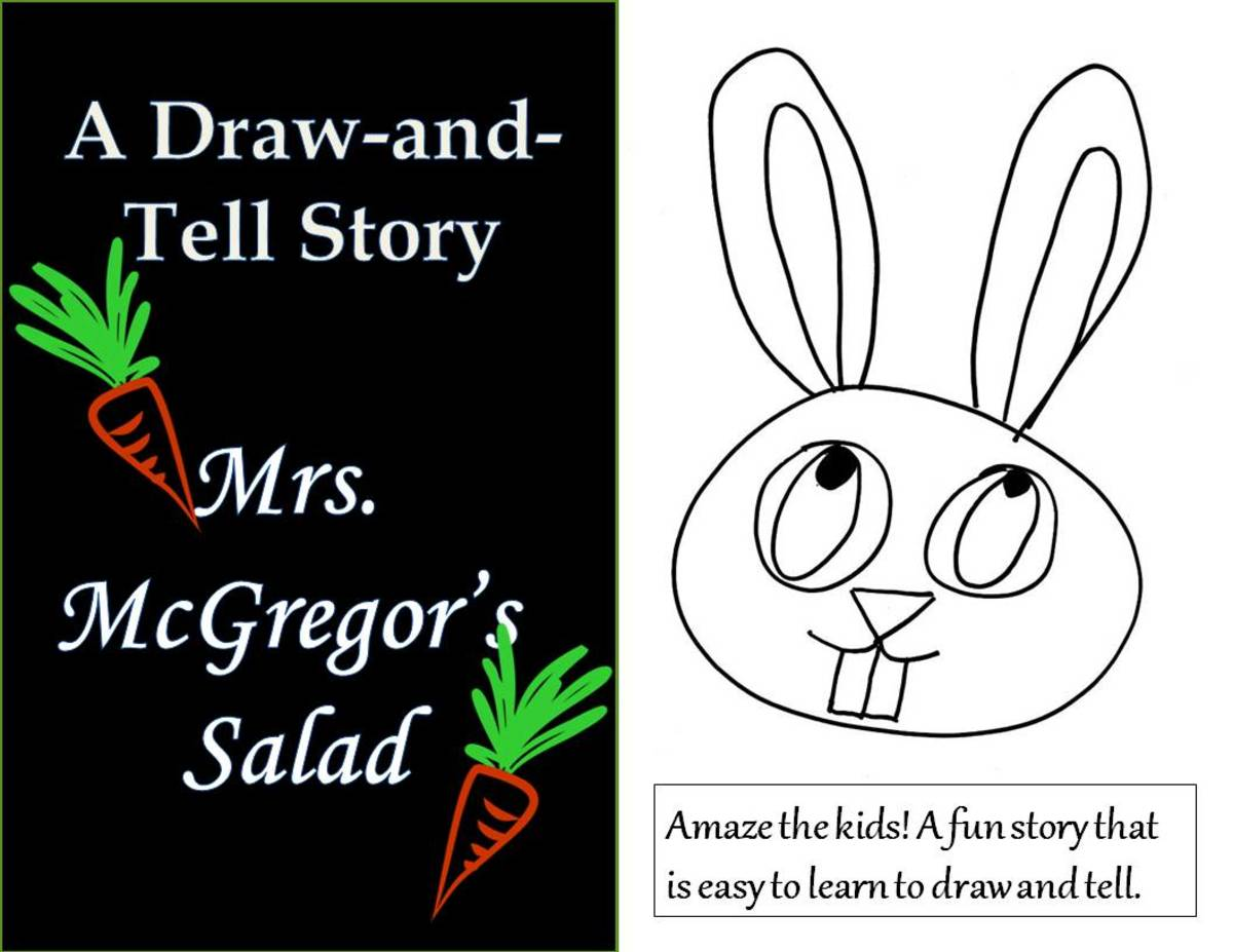 This article includes instructions, videos, and printable patterns for learning this easy and fun draw-and-tell story.