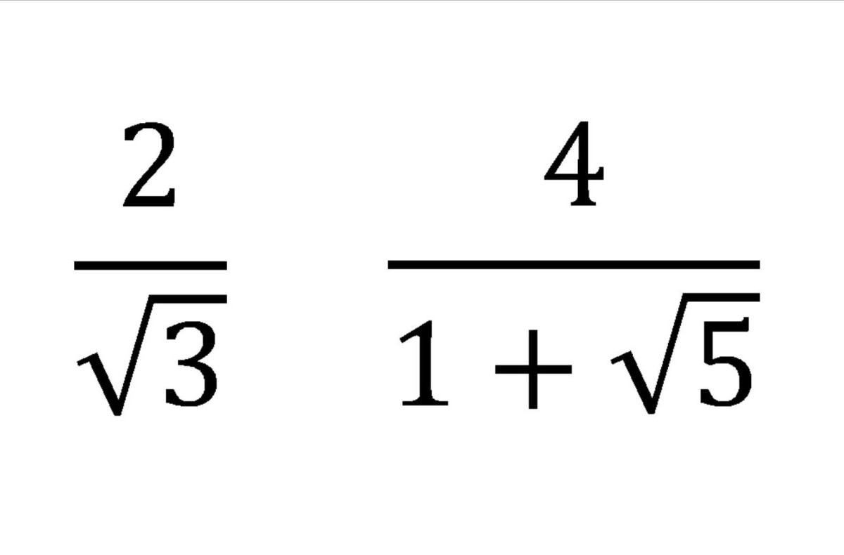 Fractions With Irrational Denominators