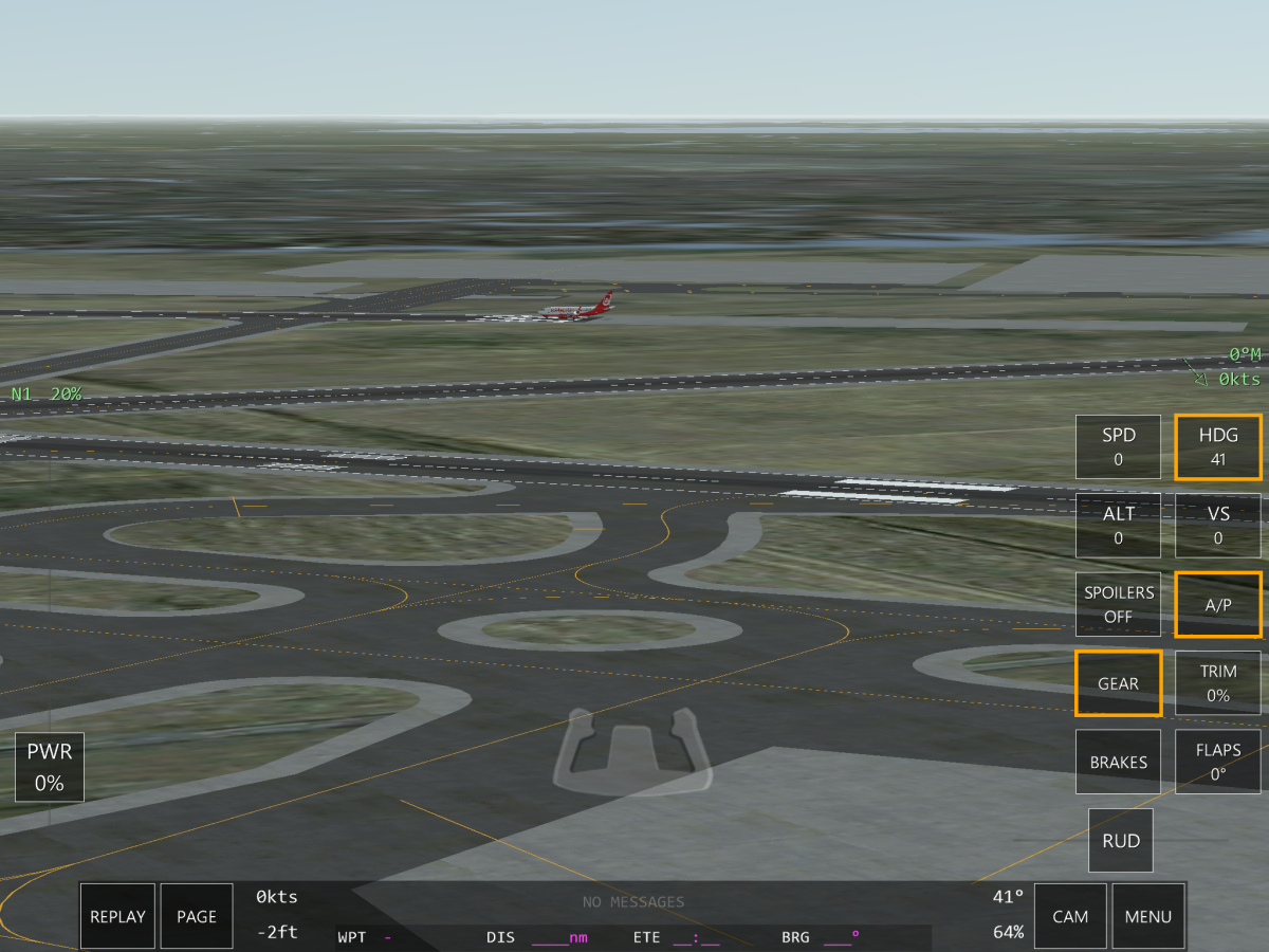 A view of EHAM, the origin airport of this flight.