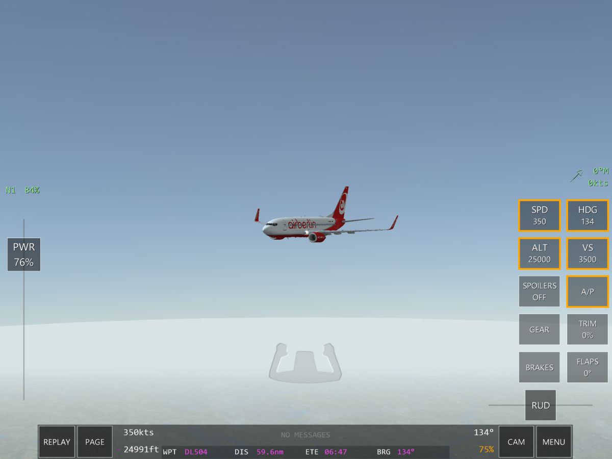 My aircraft cruising.