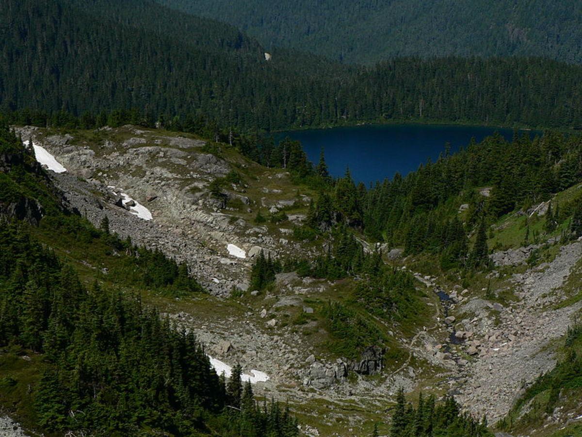 Mowich Lake in Mount Rainier National Park