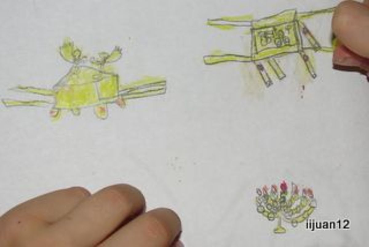 Parts of the tabernacle drawn by a 7 year old