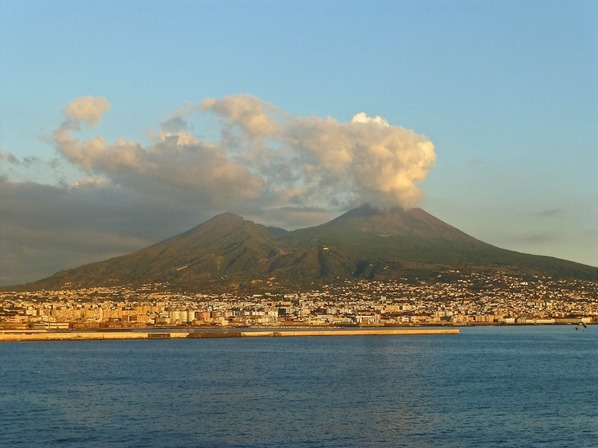 Mt. Vesuvius is an active volcano near Naples, Italy, whereabouts millions of people live in close vicinity to the peak.