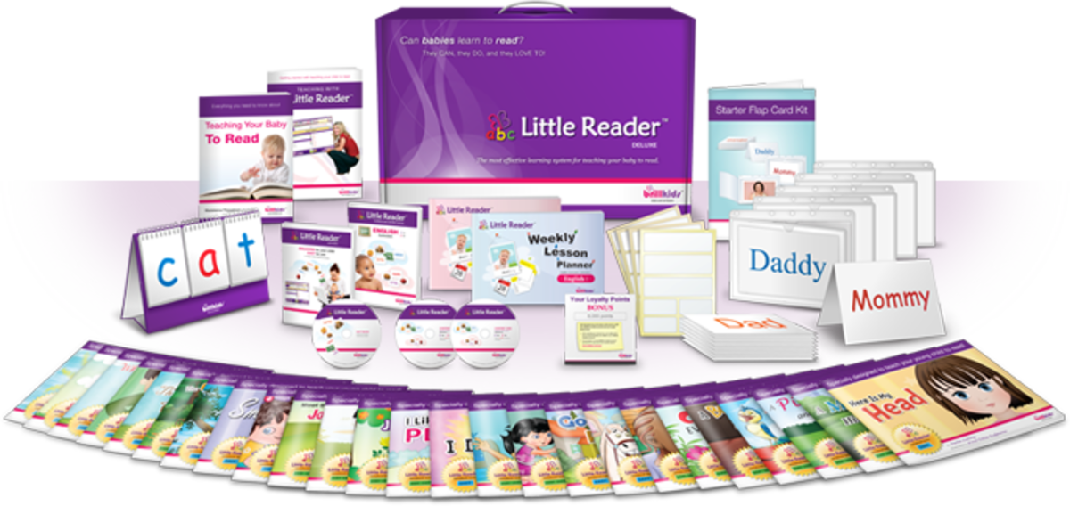 Teach your baby or toddler to read with Brillkids Little Reader
