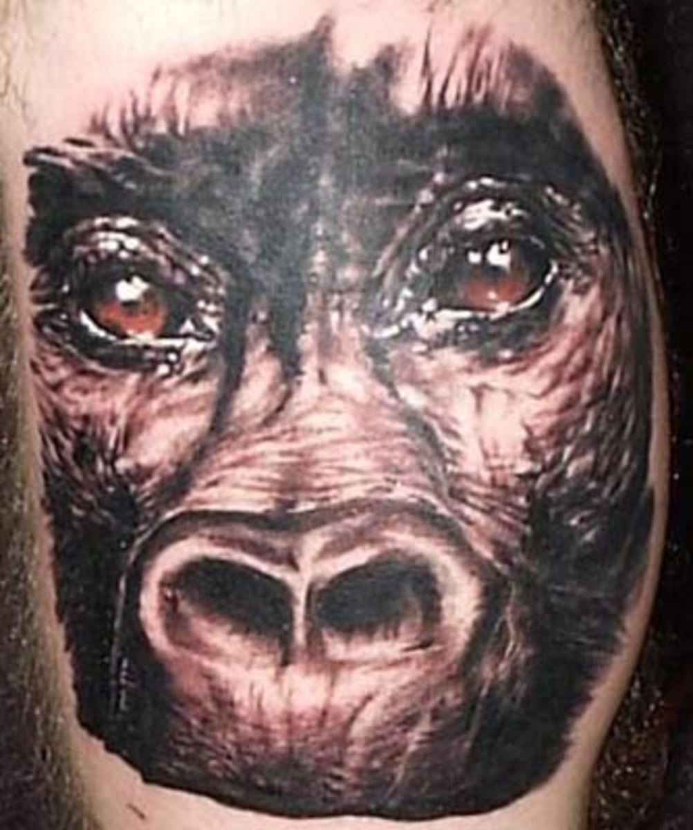 Monkey tattoos and you for Monkey face tattoo