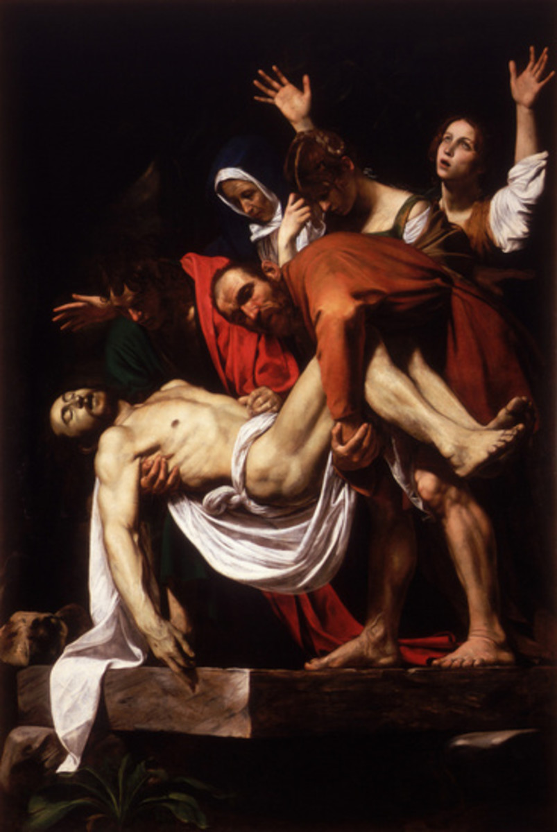 """DEPOSITION OF JESUS"" PAINTED BY CARAVAGGIO IN 1604"