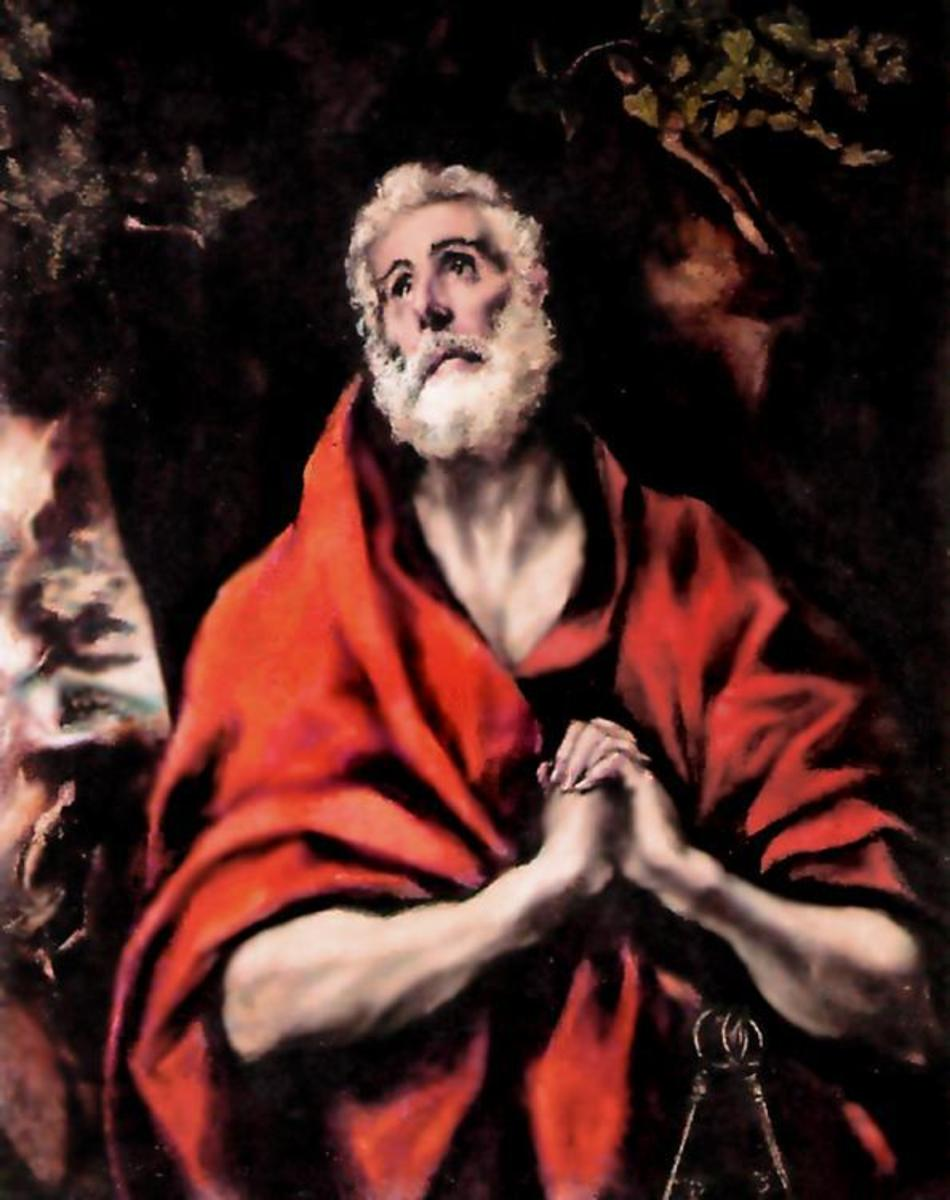 """ST PETER REPENTANT"" PAINTED IN 1600 BY TINTORETTO"