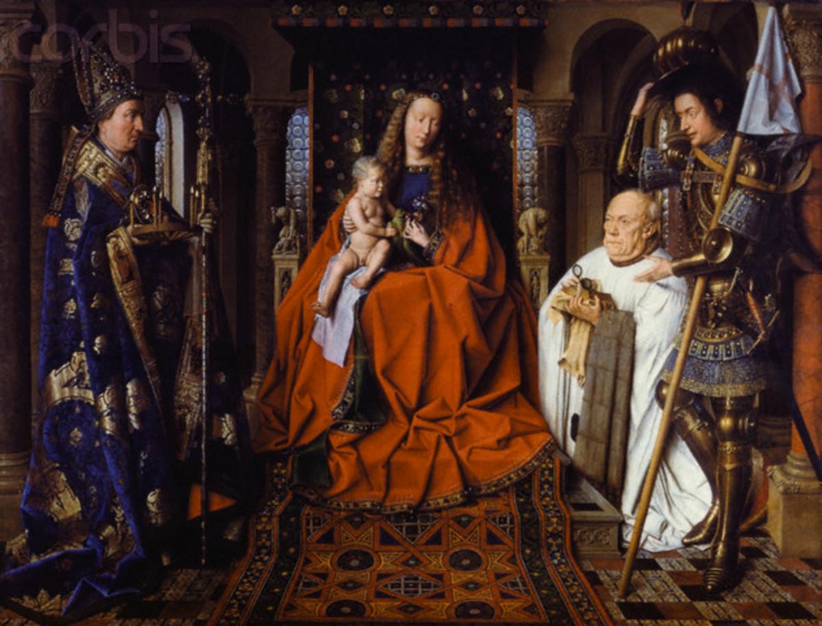 """MADONNA AND BABY JESUS"" PAINTED IN 1436 BY JAN VAN EYCK"