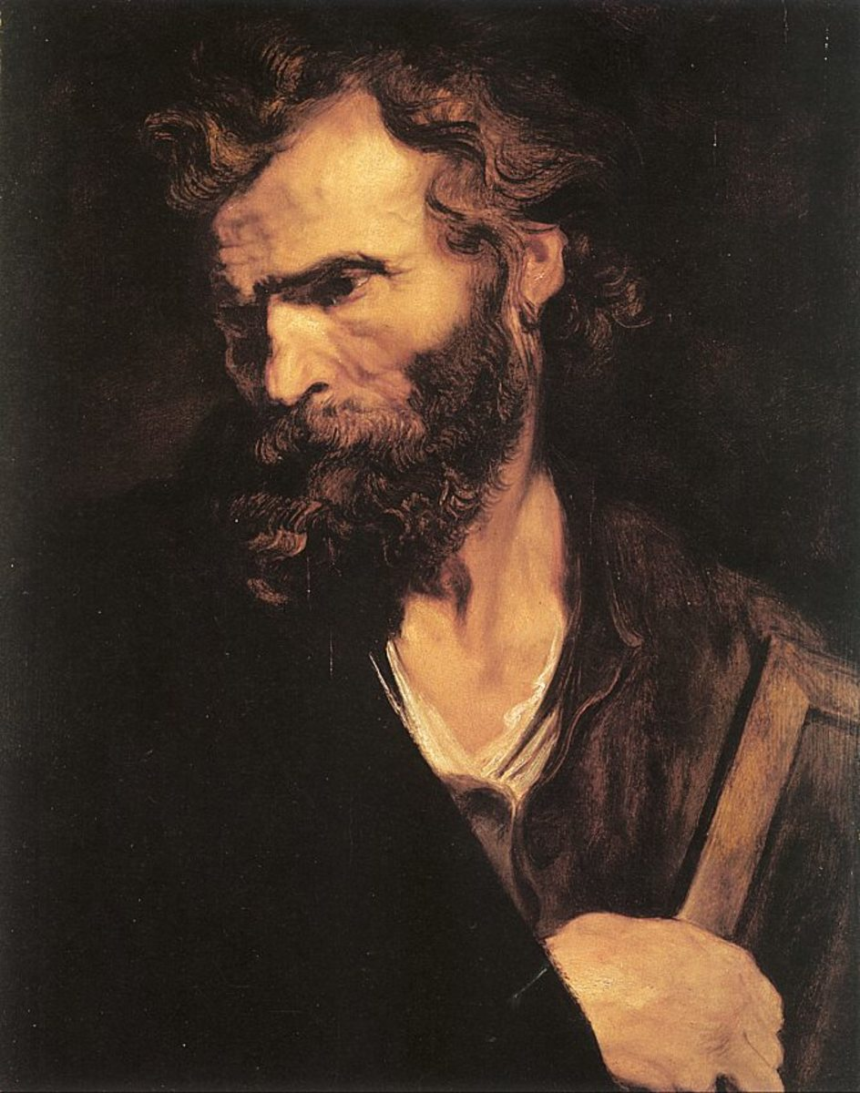 """ST JUDE"" PAINTED BY ANTHONY VAN DYCK IN 1641"