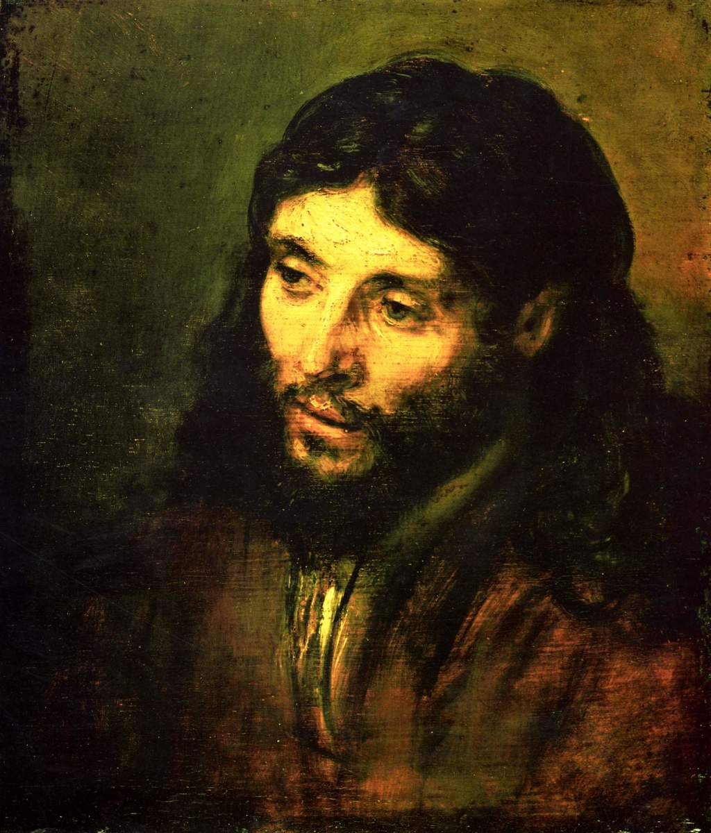 """HEAD OF CHRIST"" PAINTED IN 1650 BY REMBRANDT"