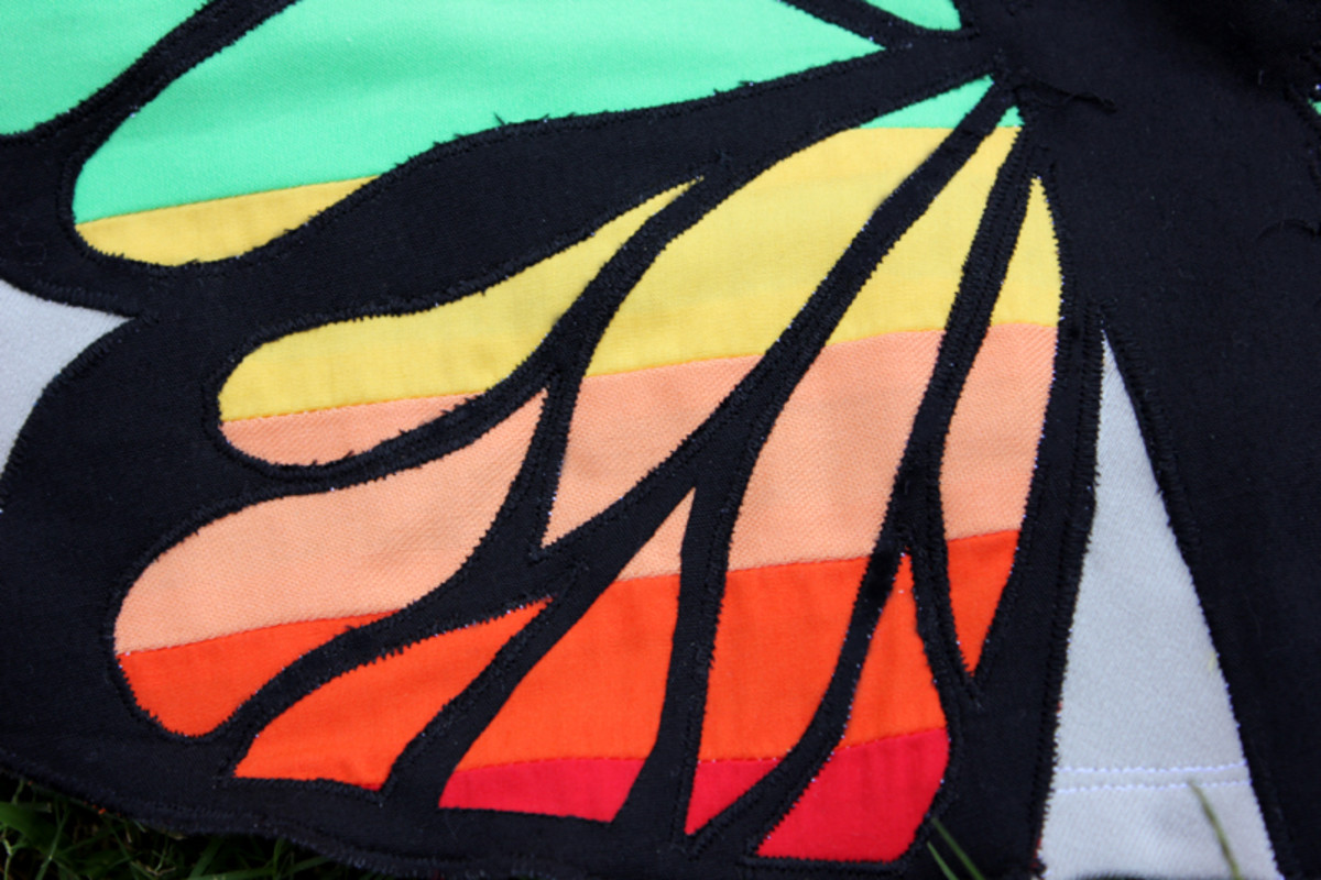 Rainbow Butterfly Skirt Tutorial