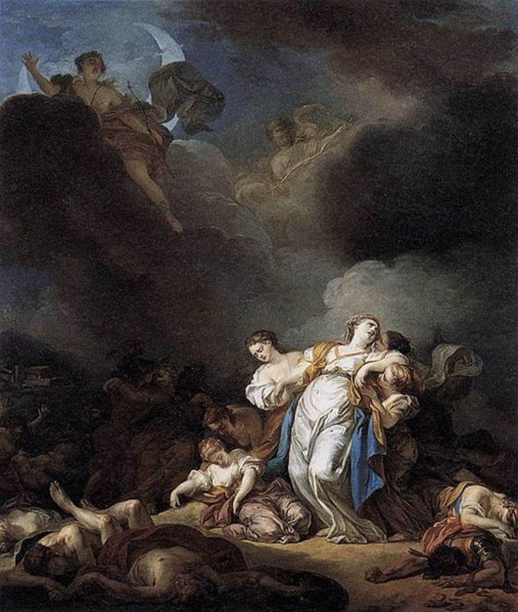 The Children of Niobe - Anicet-Charles-Gabriel Lemonnier (1743–1824)  - PD-art-100