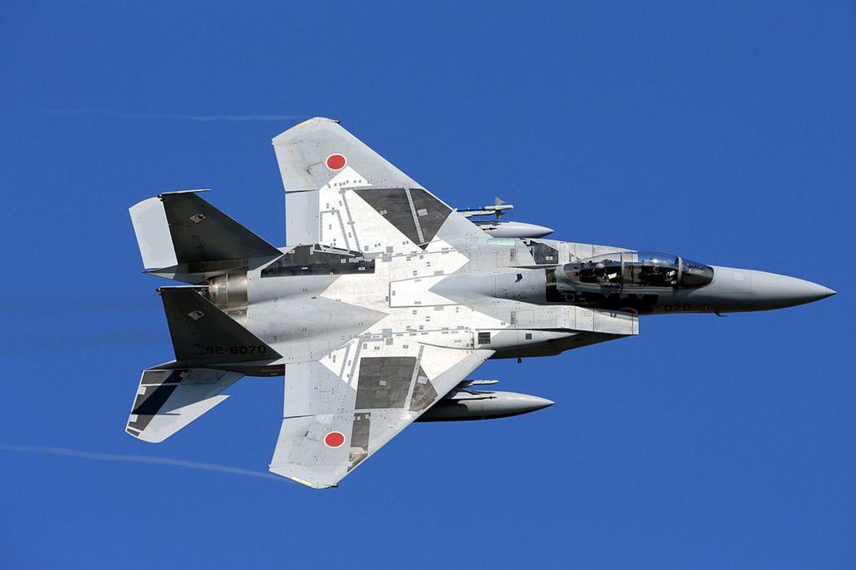 A Japanese F-15 in flight