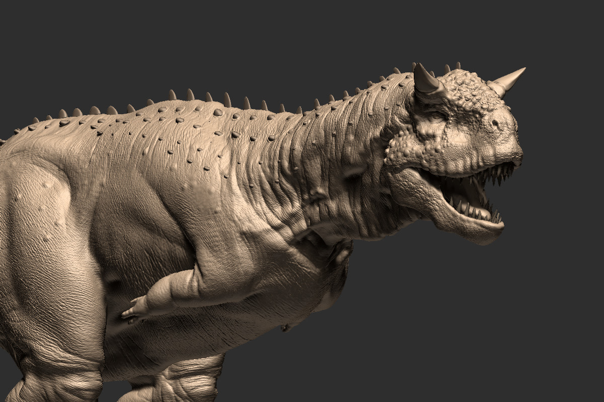 bulky body, little bristled spikes on the spine, big jaw and body shape like a hippopotamus and mouth like a lizard