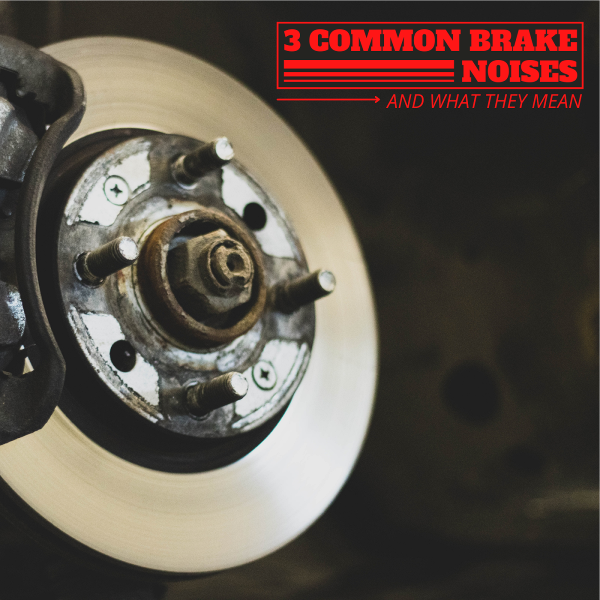 As a mechanic, the three most common brake noises I get complaints about are grinding, thumping, and squeaking.
