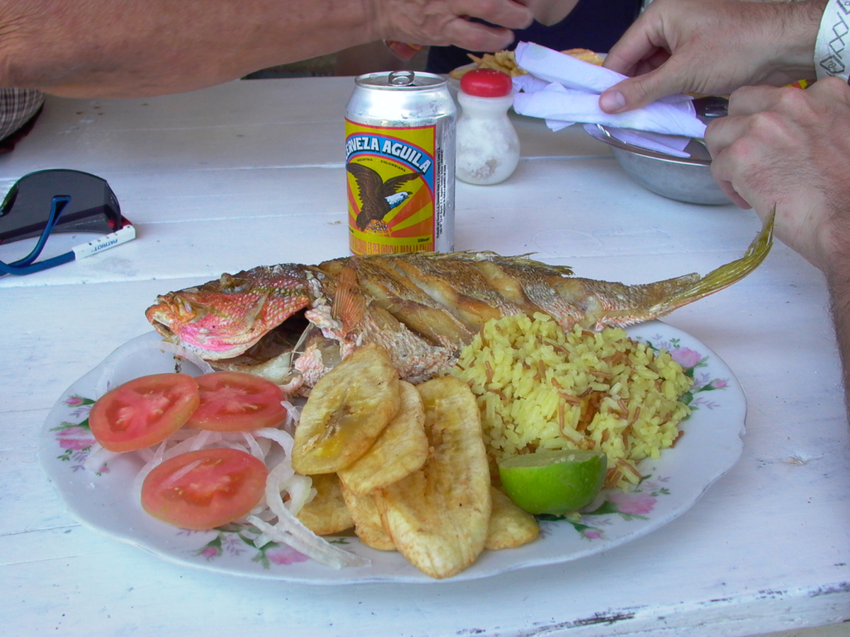 The red Snapper is a favorite to fry in the pan in Colombia,