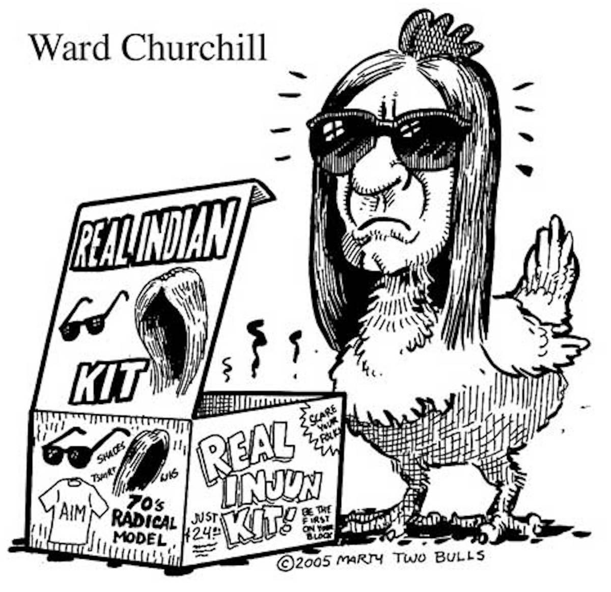 Churchill Cartoon - American Indian Movement