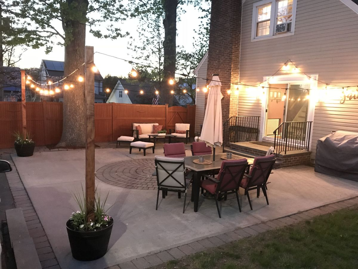 How to hang outdoor string lights for a step-by-step guide.