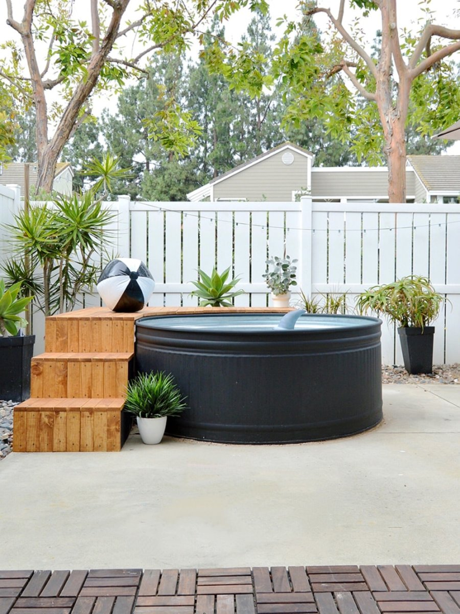 Your Next Outdoor DIY. A $600 pool with its very own a modern deck. No need to dig a hole in the ground.