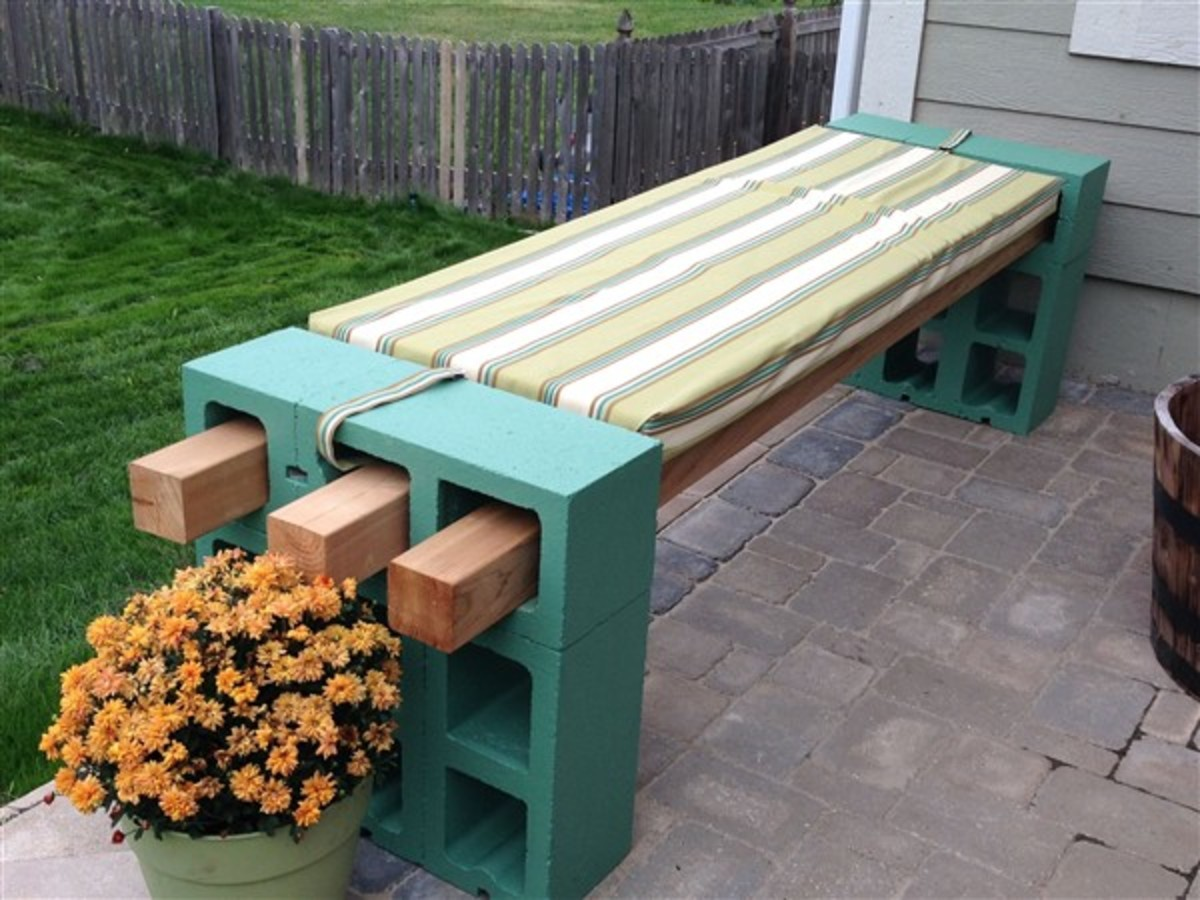 How to make the cinder block bench!