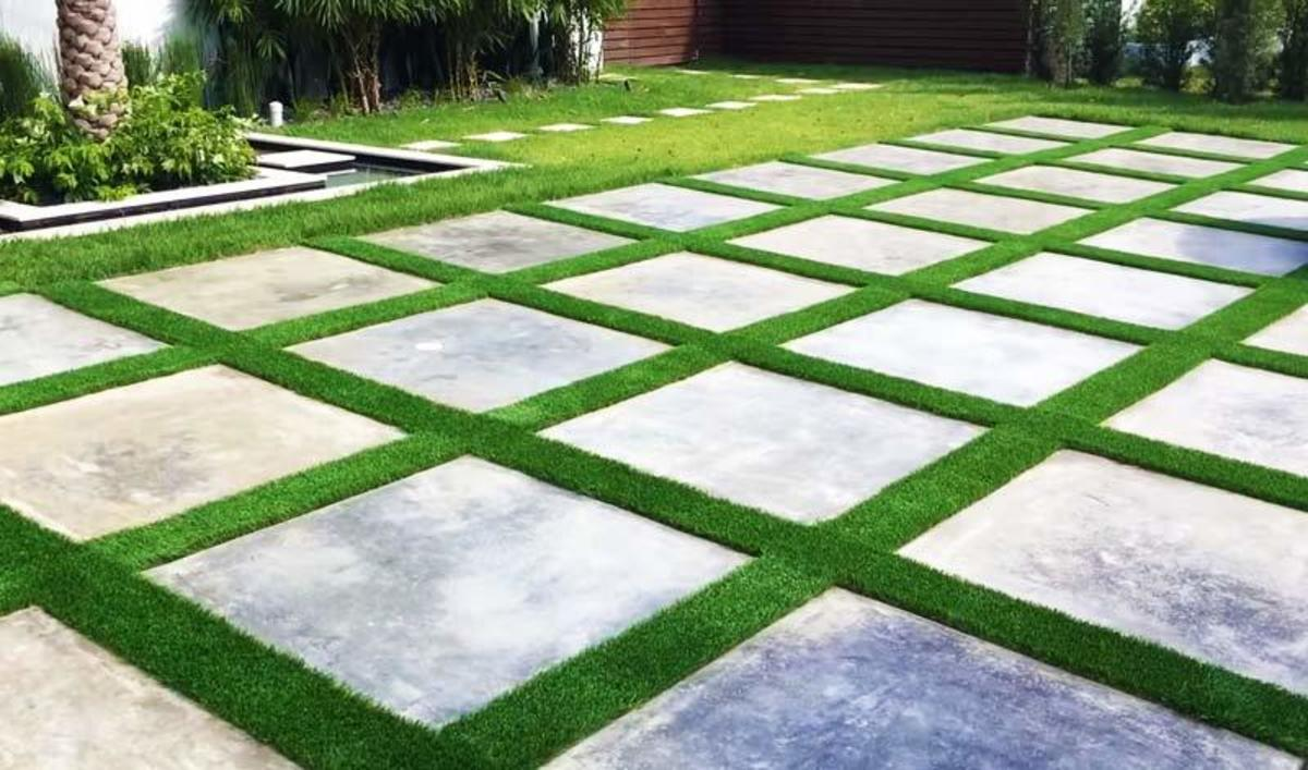 Artificial grass between pavers that are you need to know.