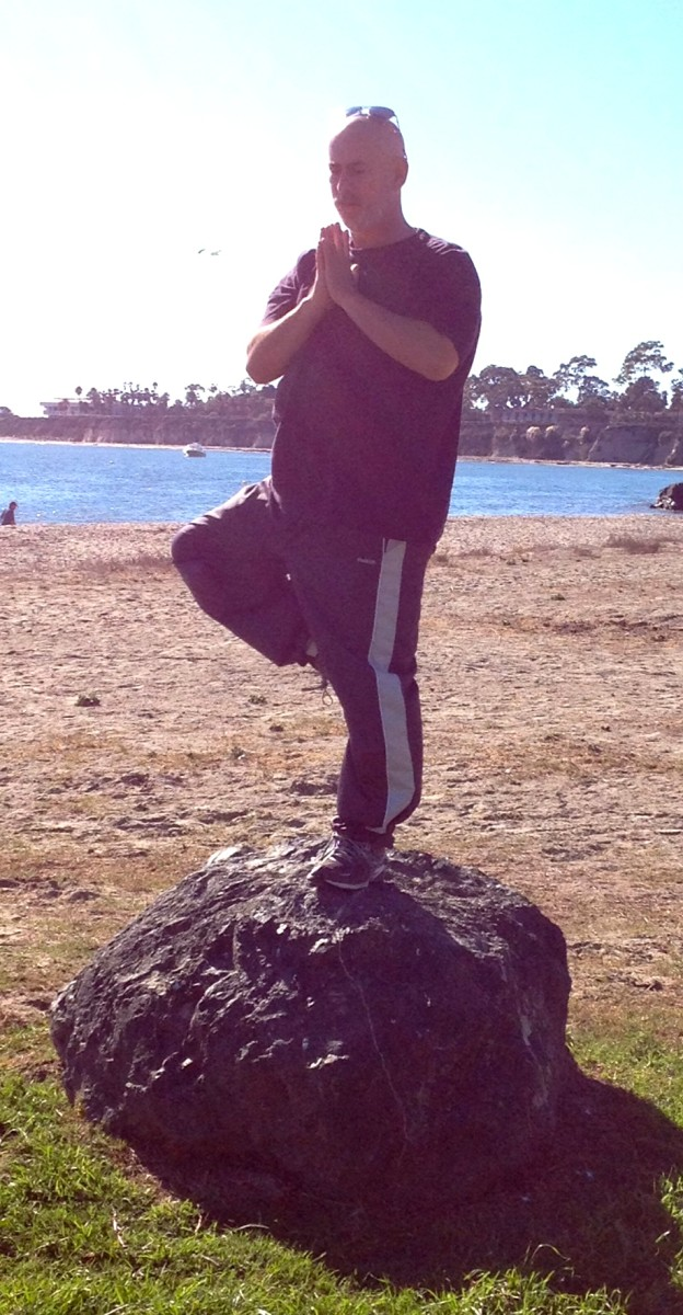 The big toe generating balance in the Tree Pose.