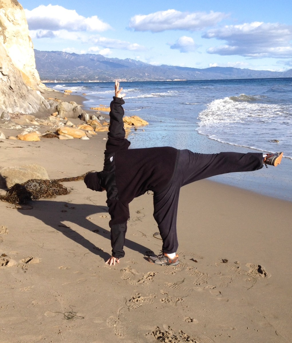 The big toe helps with balance and strength in the Half Moon Pose.