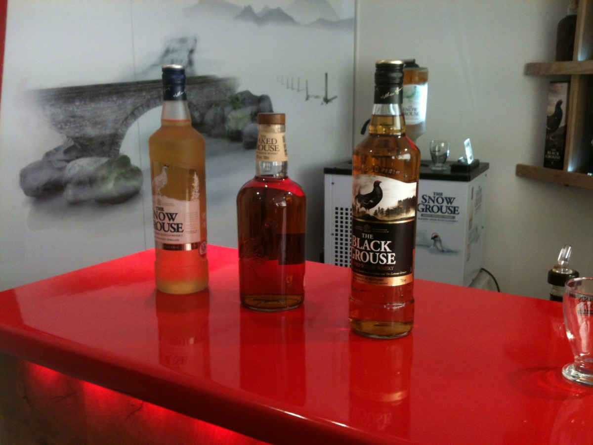 The Famous Grouse Range- (Left to right) Snow Grouse, Naked Grouse and Black Grouse