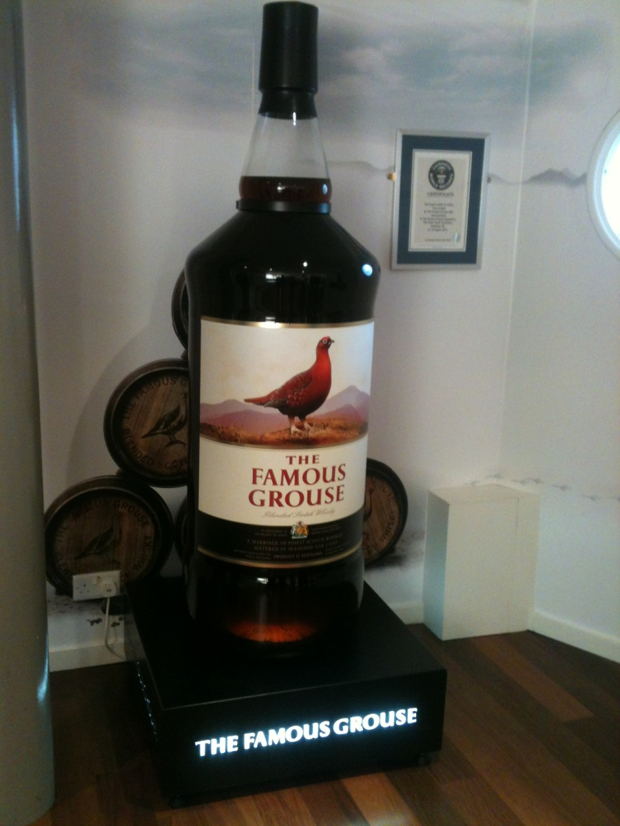 The World's Biggest Whisky Bottle- 238 litres of Famous Grouse