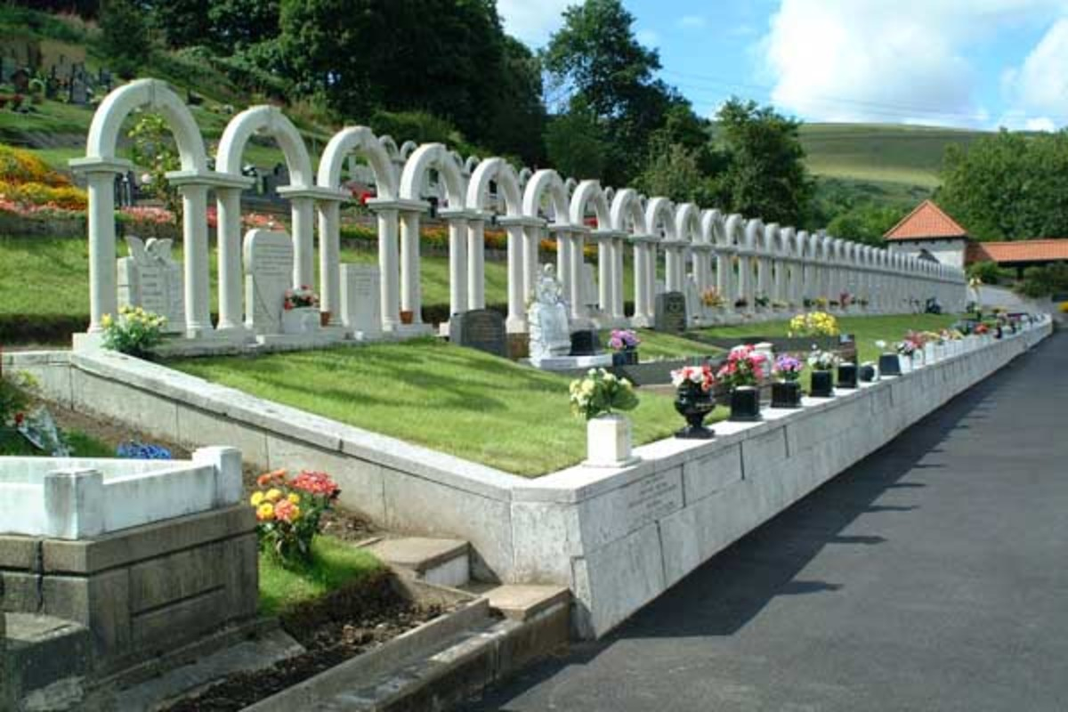 Present day memorial at Aberfan