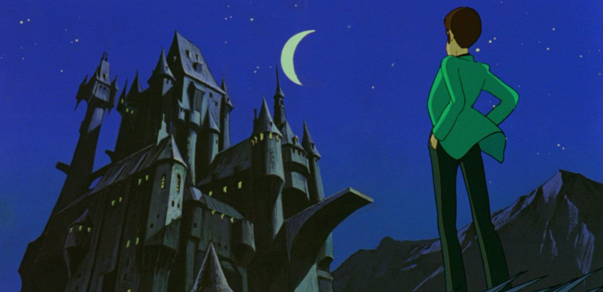 Lupin III preparing to break into Count Cagliostro's castle.