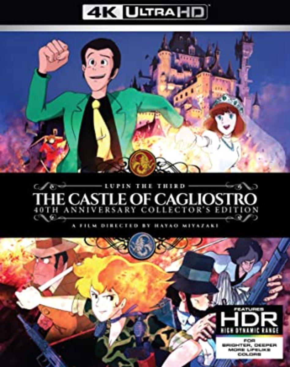 """Lupin III: The Castle of Cagliostro"" 4K blu-ray cover."