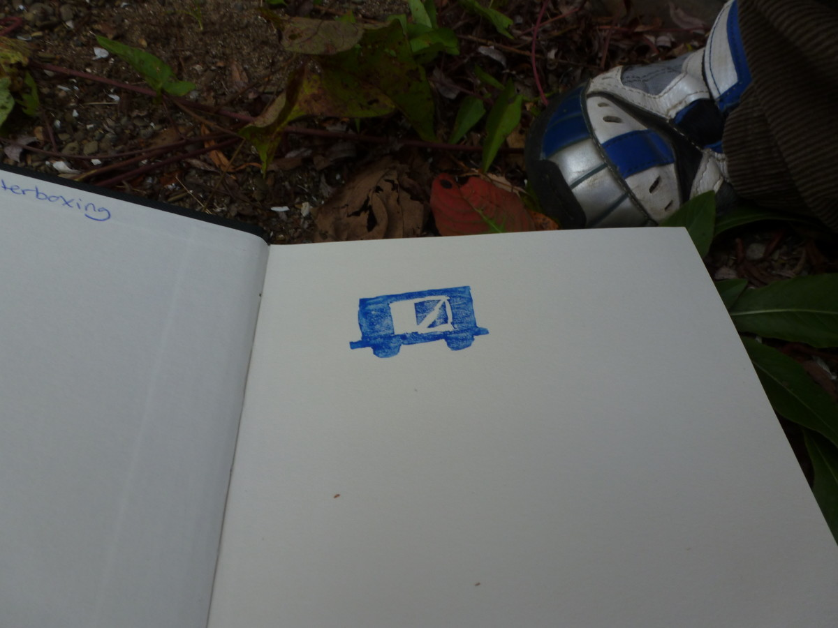The first stamp in our book! This stamp was found near a historical train depot in our local area.