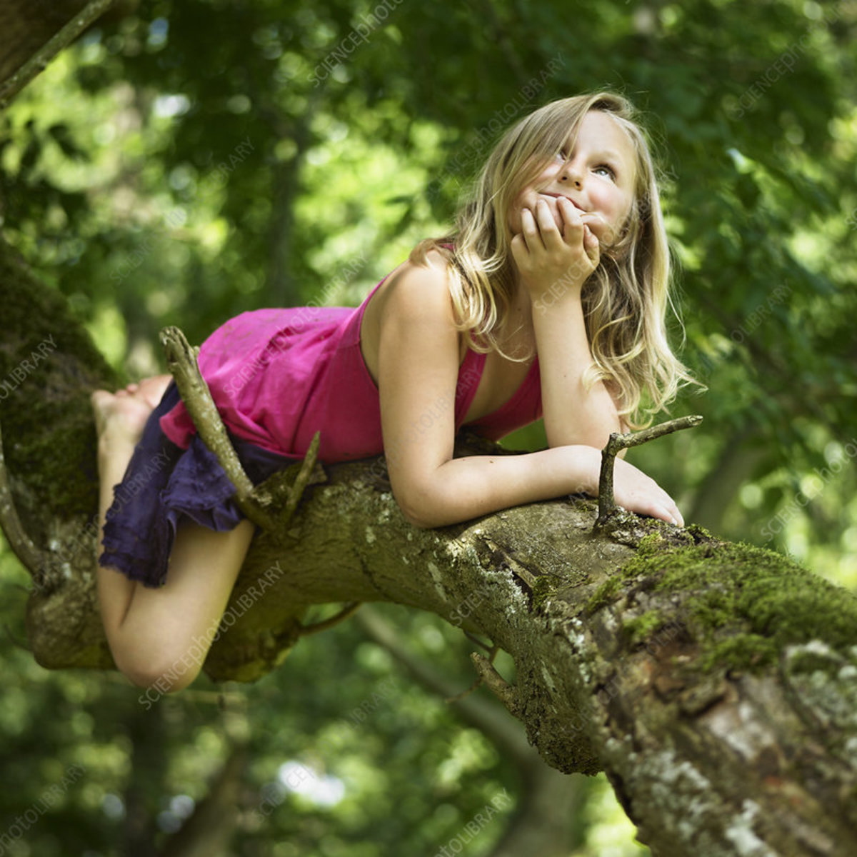 Look! Even girls can climb trees.