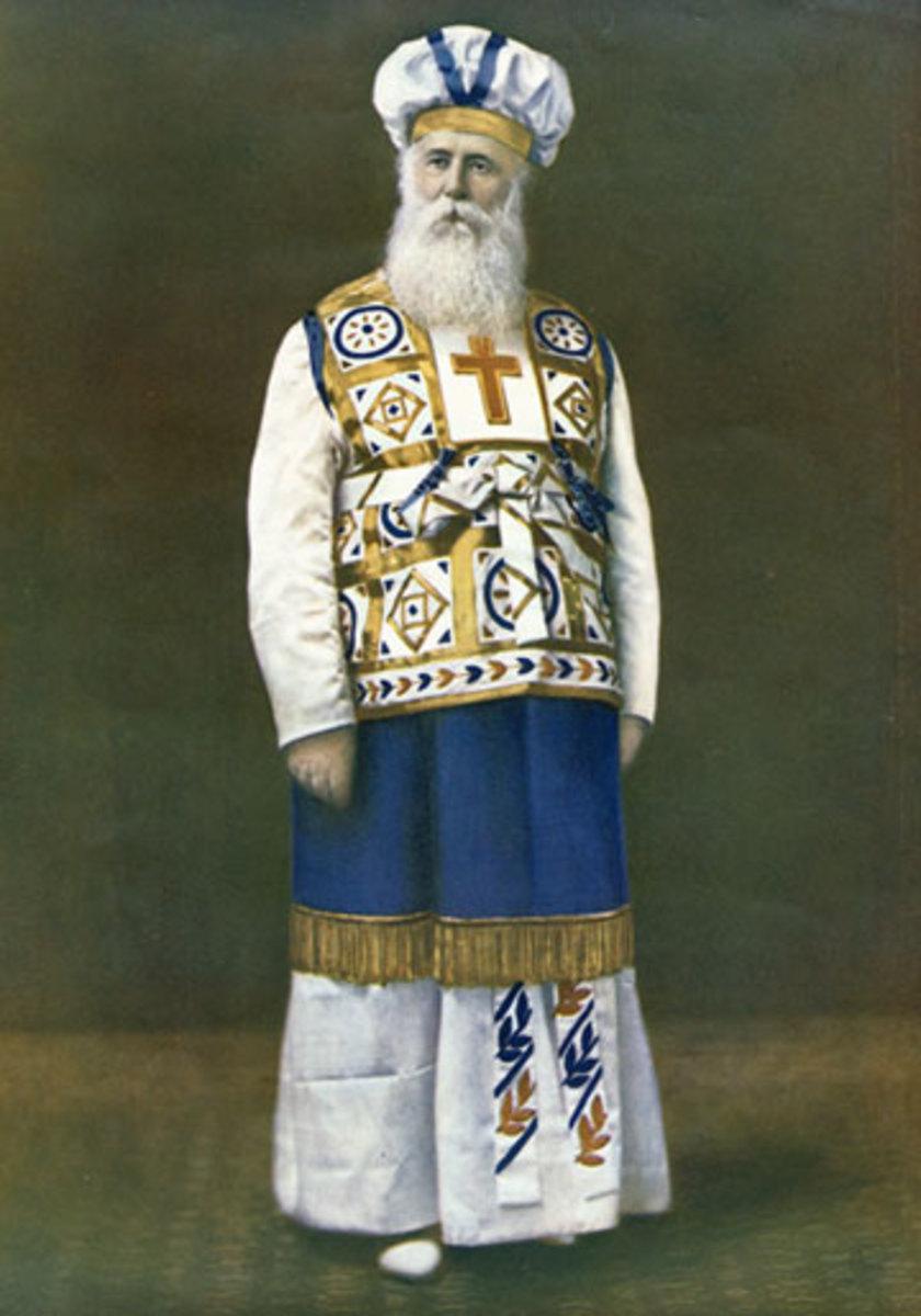John Alexander Dowie in his robes as Elijah the Restorer