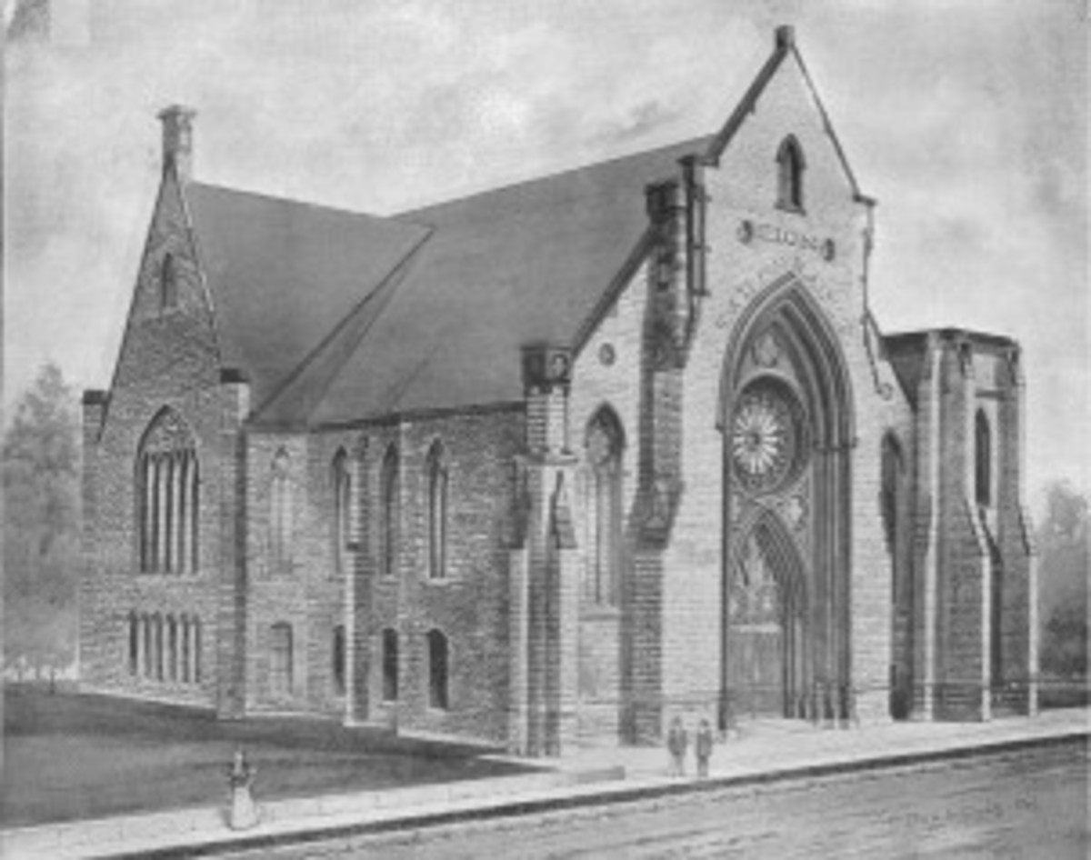 The Zion Central Tabernacle at 1621-33 S. Michigan Avenue was opened in February 1897, and was used for services until his downfall midway through the first decade of the 20th Century.