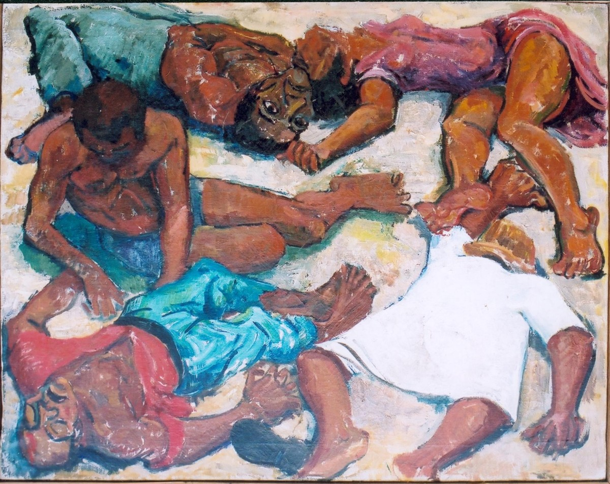 Murder at Sharpeville by Godfrey Rubens.