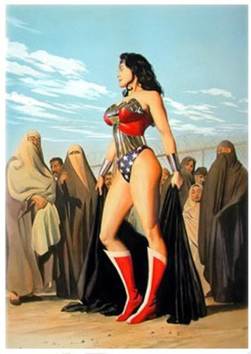 Image from the Graphic Novel Wonder Woman: The Spirit of Truth