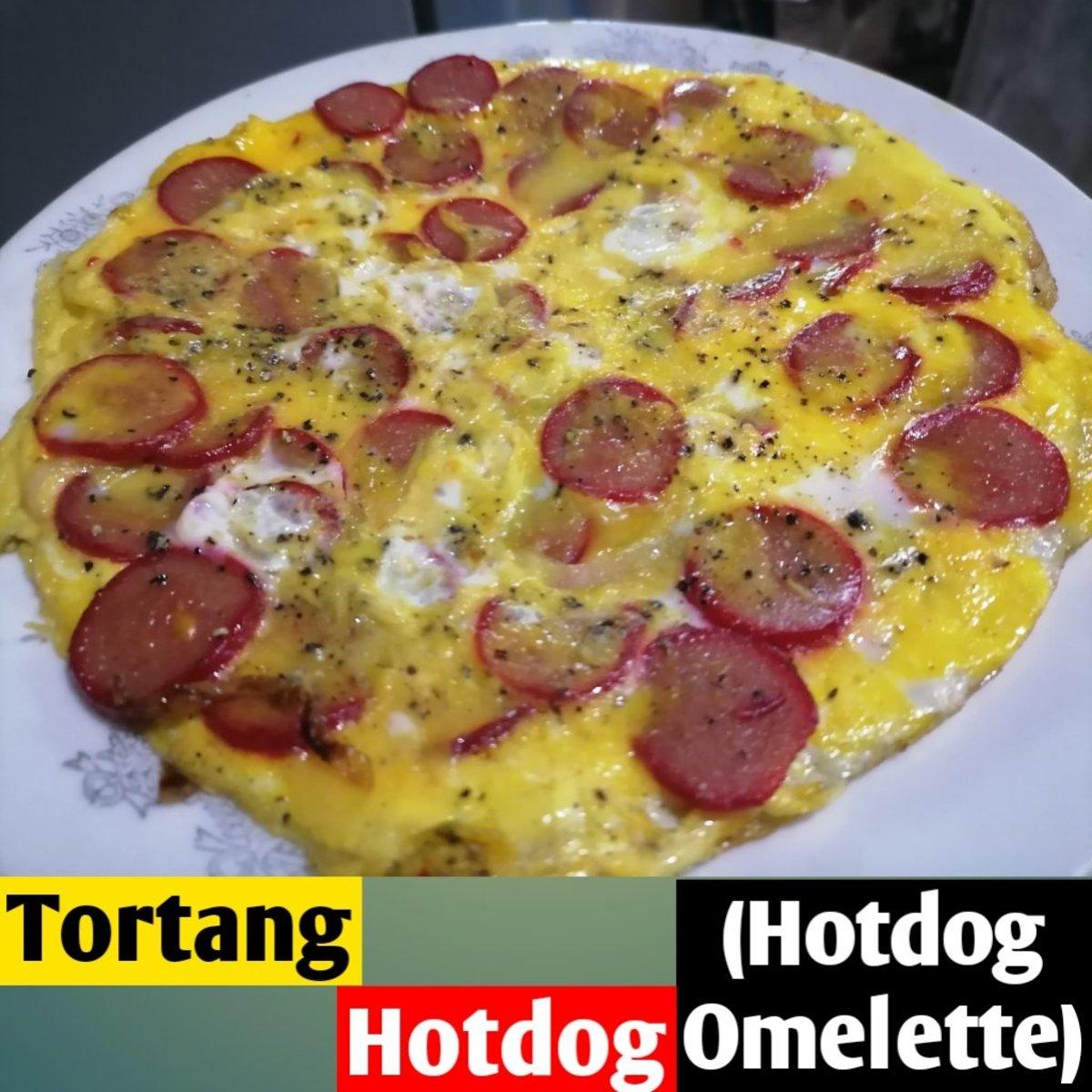 Tortang Hotdog (Hotdog Omelette)