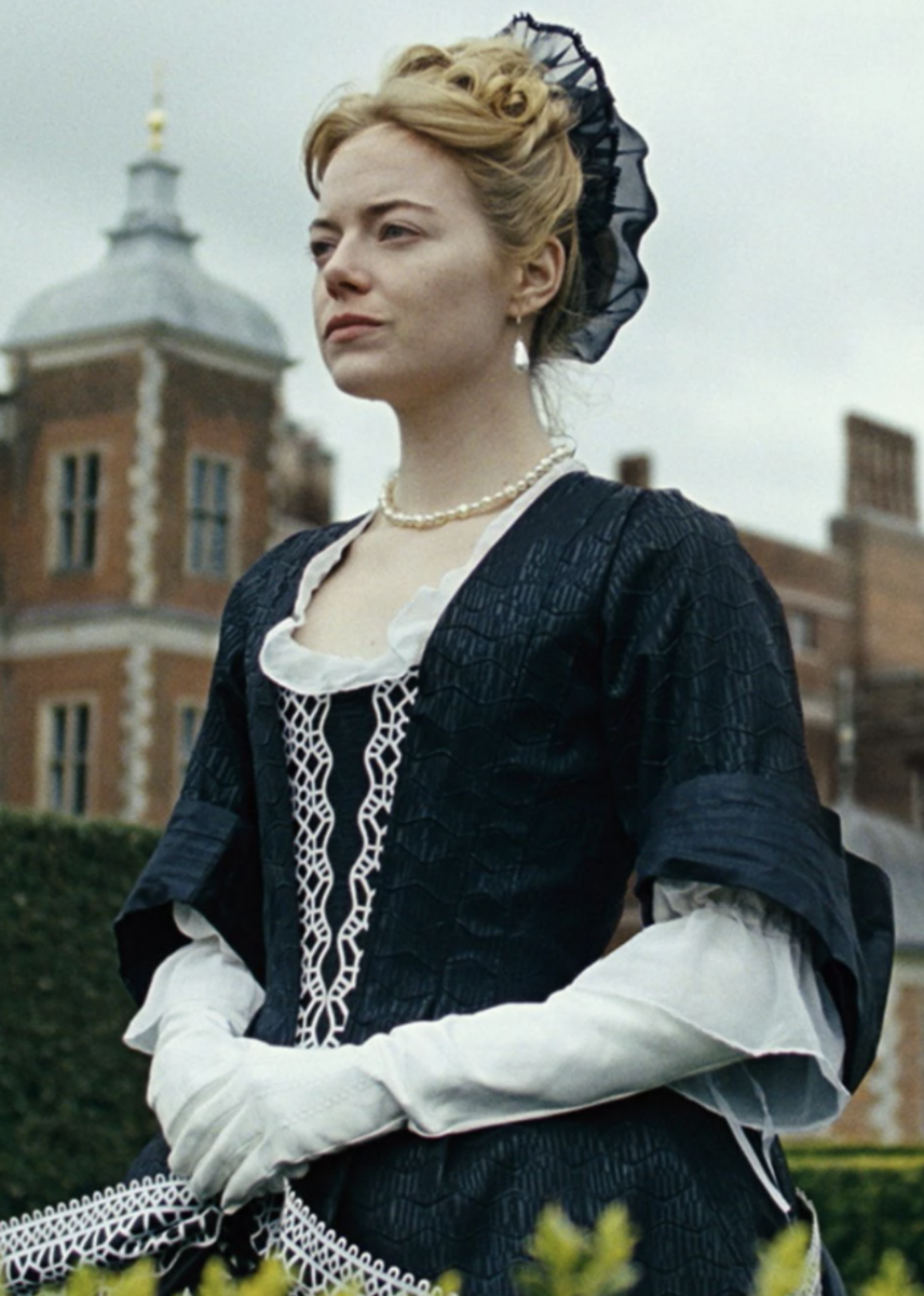 Emma Stone as Abigail Hill in The Favourite