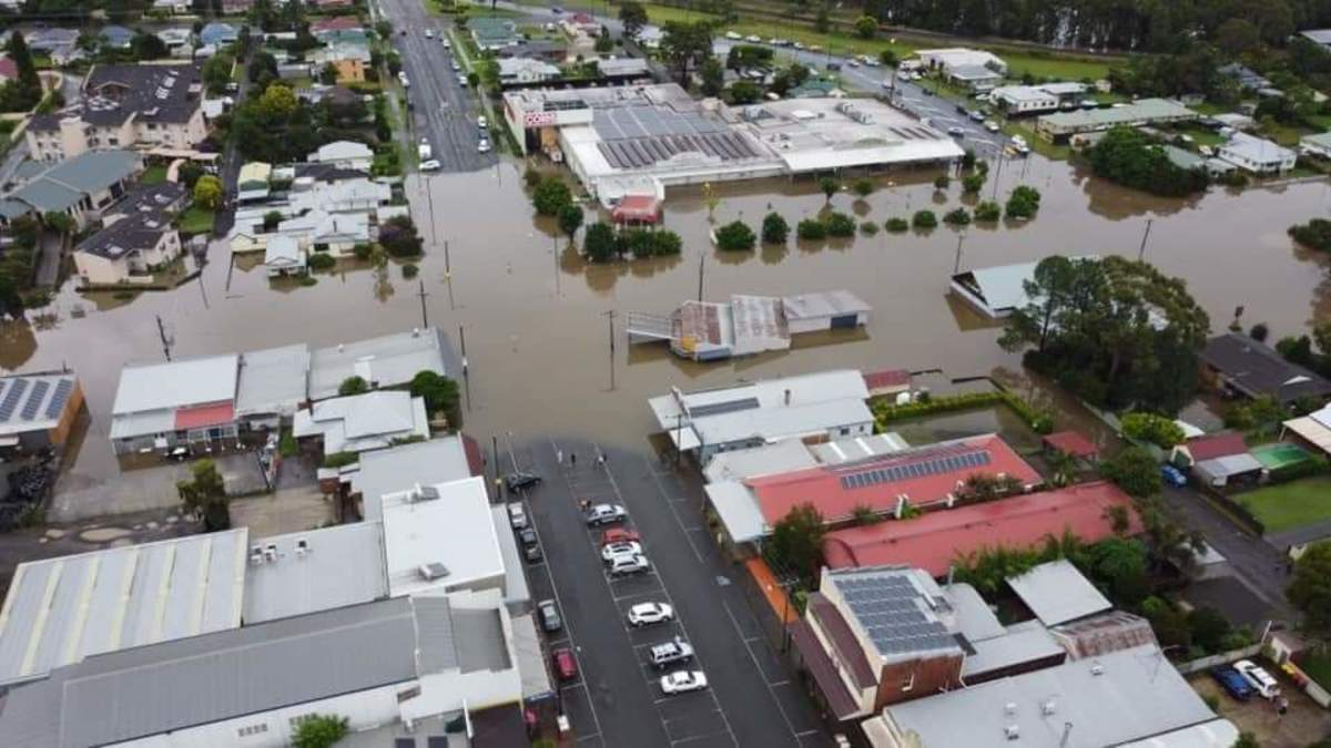 Above view of flooding in Wingham