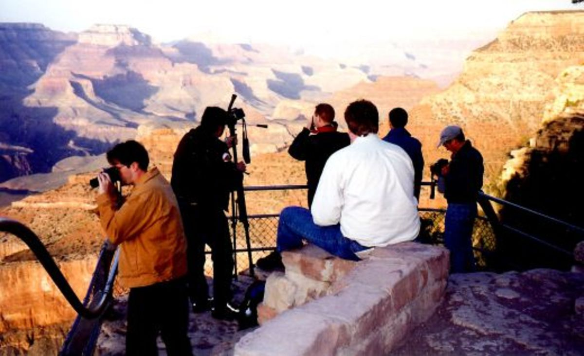 Photographers at the Grand Canyon