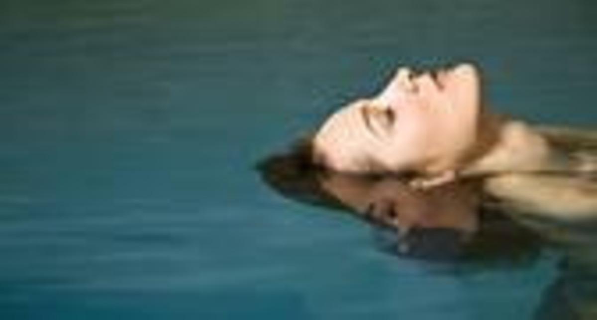 I enjoy floating around in the pool.