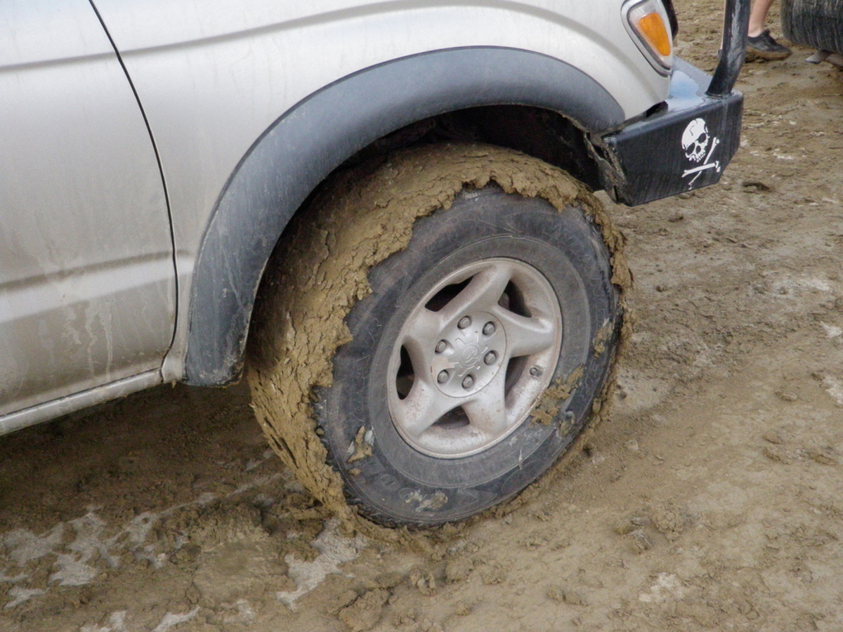 Don't drive on the wet playa!