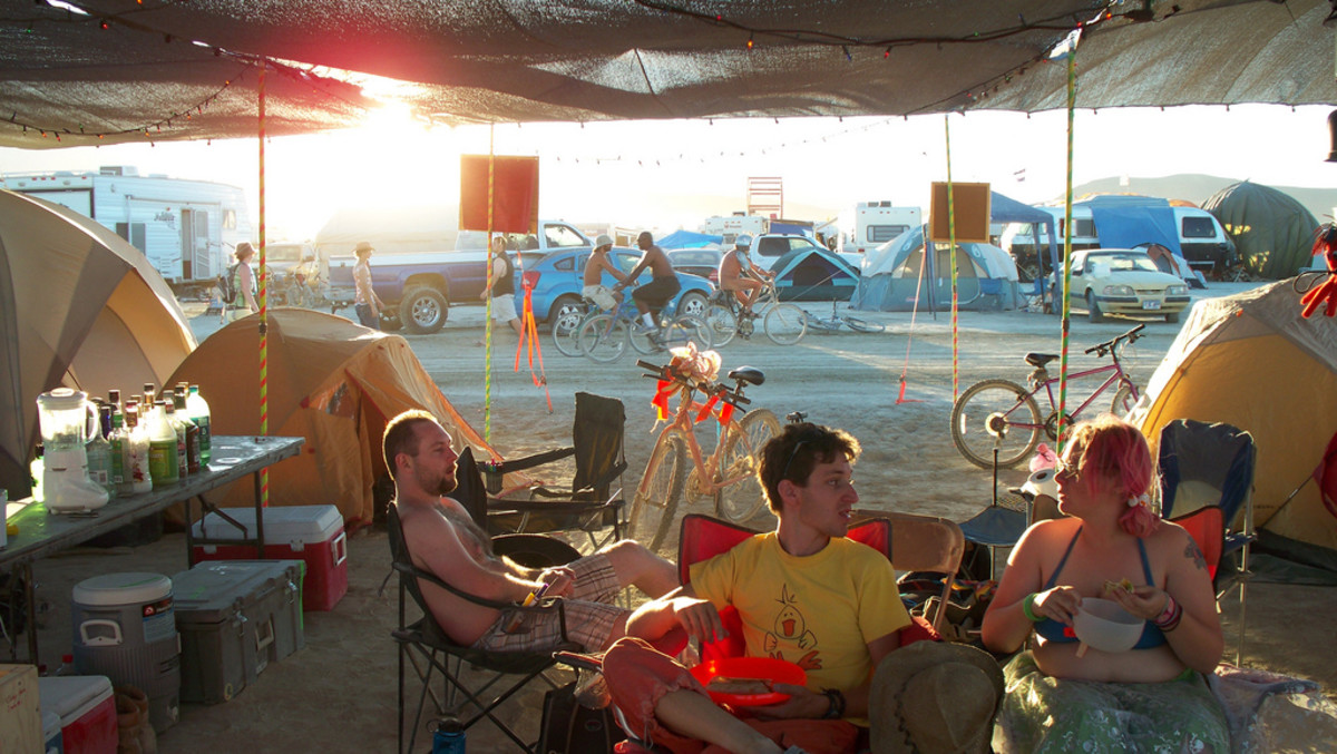 You'll spend a lot of time at camp, make it a comfortable one. Shade structures are important, set your tent under them, bring some chairs, set up your kitchen. All under the shade.
