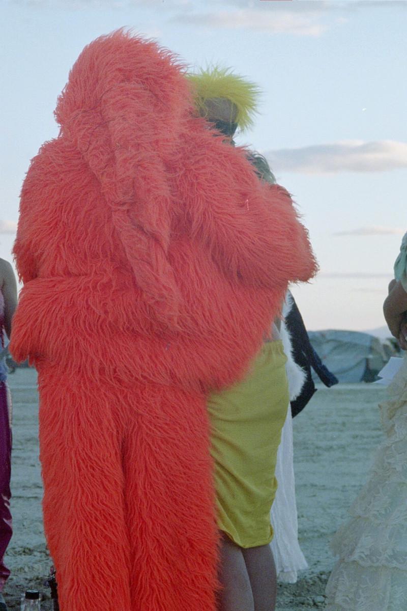 Faux fur Burning Man costumes.