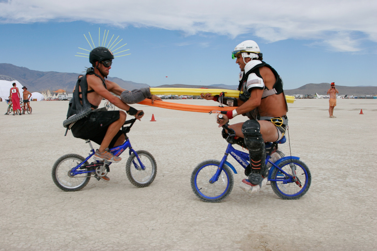 Of course any bike will do when you want to joust.
